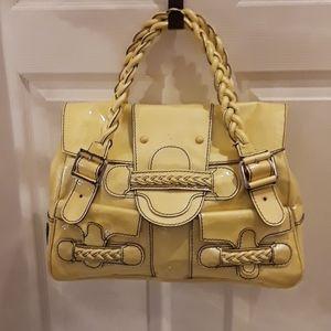 Valentino Authentic Histoire patent leather bag